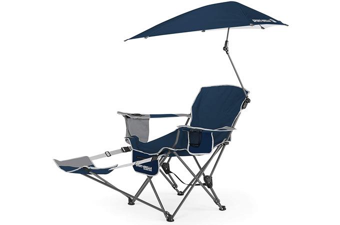 Sport-Brella Recliner Chair with Umbrella and Footrest