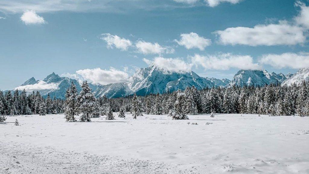 Winter at the Grand Teton National Park