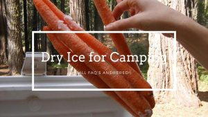 Dry Ice for Camping