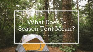 what does 3-season tent mean