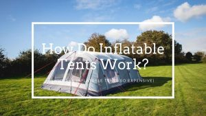 How do inflatable tents work