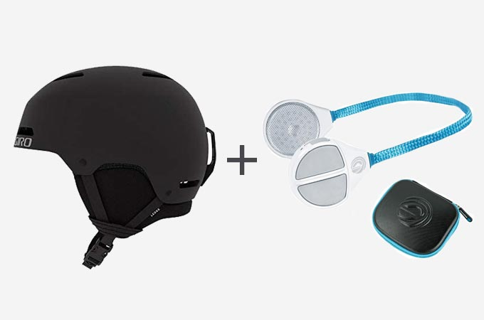 Giro Ledge Snow Helmet + Alta Helmet Wireless HD Speakers
