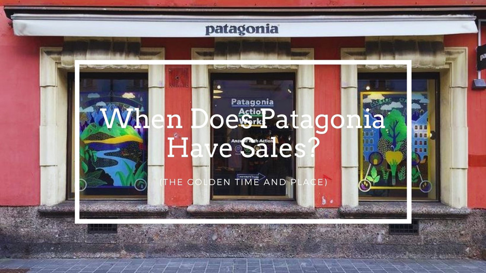 When Does Patagonia Have Sales