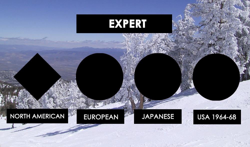 ski slope levels: Black Diamond