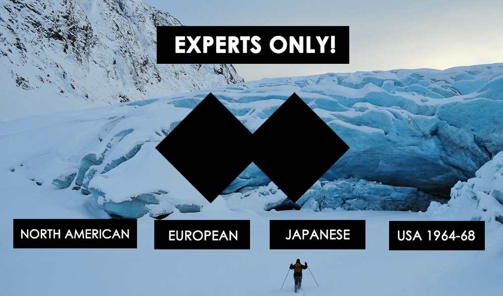 ski slope levels: Double-Black Diamond